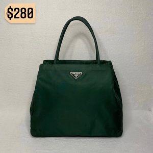 ✨✨✨✨SOLD✨✨✨✨Prada Emerald Green Vintage Nylon Tote